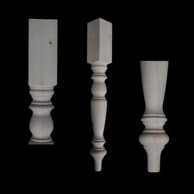 Dřevěná soustružená stolová noha - 75x9x9cm