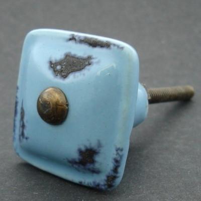Keramická knopka MODRÁ PATINA 35mm