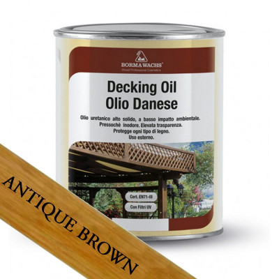 Borma Wachs Dánský olej na dřevo Ant. Brown 1L