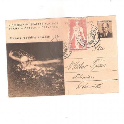 Spartakiáda 1955, korespondenční lístek