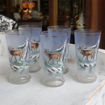 Malované skleničky 5ks