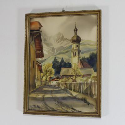 Natters M.M.  Obraz Alpský kostelík