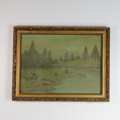 Obraz krajina les