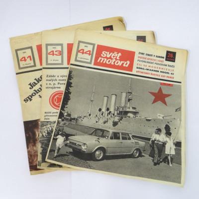 Svět motorů 1972 3ks