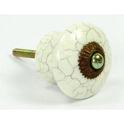 Porcelánová knopka pukaná - ø 40 mm