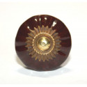 Porcelánová knopka s ozdobou - ø 35 mm