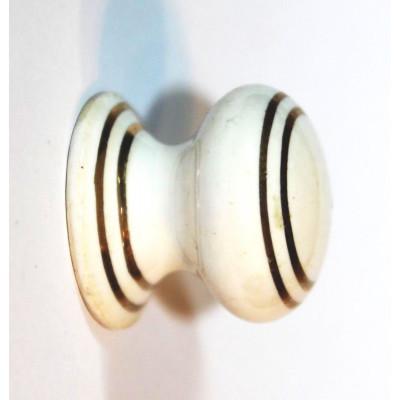 Porcelánová knopka kulatá ( bílá ) -ø 26 mm