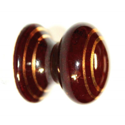 Porcelánová knopka kulatá ( hnědá ) - ø 26 mm
