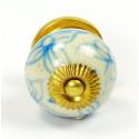 Porcelánová knopka - kulatá zdobená