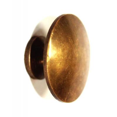 Úchyt kulatý - mosaz s patinou - ø 30 mm