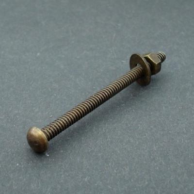 Šroub s nýtovou hlavou ANTIK HNĚDÝ 65mm