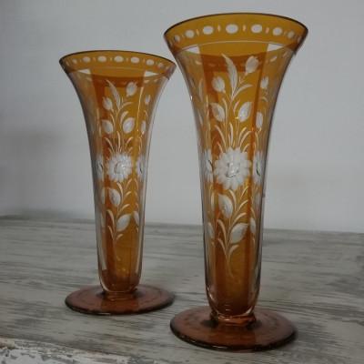 Skleněná váza 2ks