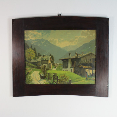 Obraz alpská vesnice,reprodukce