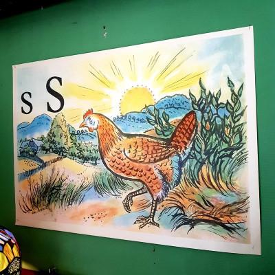 Školní plakát písmeno S