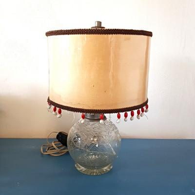 Stolní lampa broušené sklo