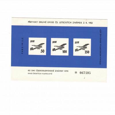Přetisky druhé emise Čs. leteckých známek 1923