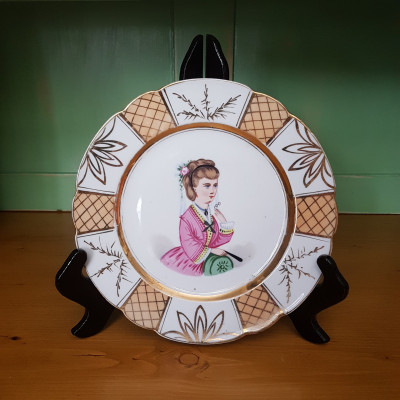 Talíř malovaný porcelán