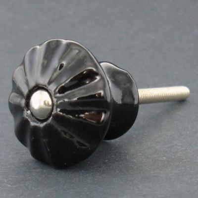 Keramická knopka ČERNÁ 30mm