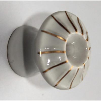 Porcelánová knopka zlac. - ø 25 mm