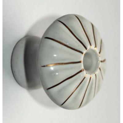 Porcelánová knopka zlac. - ø 35 mm