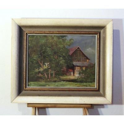 Obraz - chalupa, olej na plátně